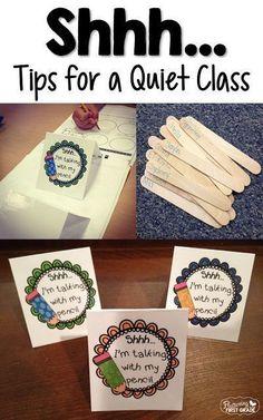 Tips for a keepig a quiet classroom