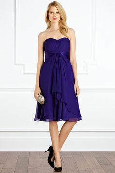 Michegan short bridesmaid dress, raises for your charity with Give as you Live Royal Blue Bridesmaid Dresses, Bridesmaids, Oasis, Bandeau Dress, Short Dresses, Formal Dresses, Purple Dress, Dream Dress, Strapless Dress Formal