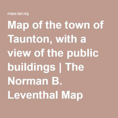 Map of the town of Taunton, with a view of the public buildings | The Norman B. Leventhal Map Center