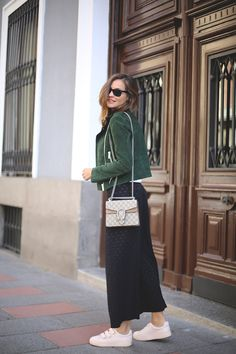 green suede perfecto looks - Lady Addict