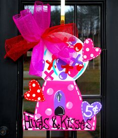 Valentine Door Hanger Valentine Decor Valentines by LooLeighsCharm, $45.00