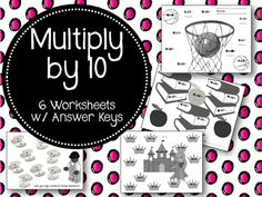 These six cute worksheets are perfect to use when your students are learning…