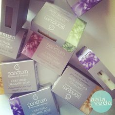 """""""Keen to start eliminating toxic products from your home but not sure where to start? How about with your soap? Something really simple and non confrontational and you can go from there! The Sanctum soap is certified organic and with ingredients like lemongrass, rose geranium, calendula and lavender they are absolutely divine to have in the bathroom."""" Photo taken by @aalaveda on Instagram, pinned via the InstaPin iOS App! http://www.instapinapp.com (01/21/2015)"""