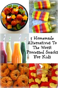healthy meals food recipes diiner cooking Remember that there is no such a thing as kid food, only marketing and packaging. 5 Homemade Alternatives To The Worst Processed Snacks For Kids will give you healthy homemade alternatives. The clo… Healthy Snacks For Kids, Healthy Treats, Healthy Recipes, Healthy Food, Healthy Homemade Snacks, Healthy Pancakes Oatmeal, Clean Eating Snacks, Healthy Eating, Non Processed Foods