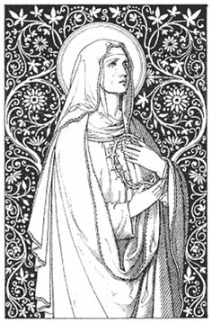 Daughter of the King, Catholic line art - part 1 part 2 via Lauren Griffon Catholic Crafts, Catholic Art, Blessed Mother Mary, Blessed Virgin Mary, Religious Images, Religious Art, Adult Coloring, Coloring Pages, Colouring