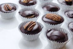 try anything once dark chocolate turtle cups dark chocolate turtle ...