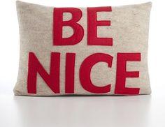 Be Nice Decorative Pillow modern bed pillows