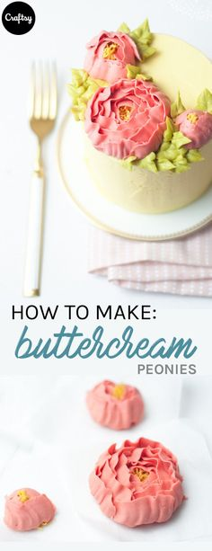 Learn how to make these buttercream peonies and you'll have a beautiful Mother's Day cake or cupcake topper.