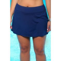 Fan Favorite - #1 selling plus size swim skort features chic moderate coverage shorts and skirt. So versatile you want to wear it beyond the beach.