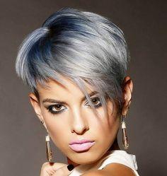 Bist Du noch am Überlegen, ob Du Deine Haare Grau färben lassen solltest? Dann schau Dir schnell diese coolen Kurzhaarfrisuren in Grautönen an! - Neue Frisur
