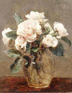 roses blanches - Henri Fantin Latour