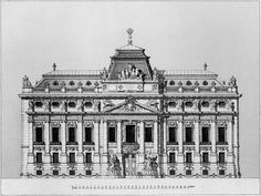 The unbuilt Imperial Russian Embassy in Vienna Neoclassical Architecture, Baroque Architecture, Classic Architecture, Commercial Architecture, Facade Architecture, Historical Architecture, Beautiful Architecture, Monuments, Architecture Drawing Art
