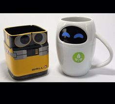 His & Hers mug set... Walle and Eve