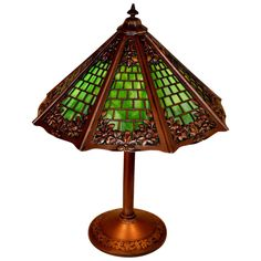 Antiques Hand Hammered Bronze Arts And Crafts Chandelier With Bournique Slag Glass Shades To Adopt Advanced Technology Arts & Crafts Movement