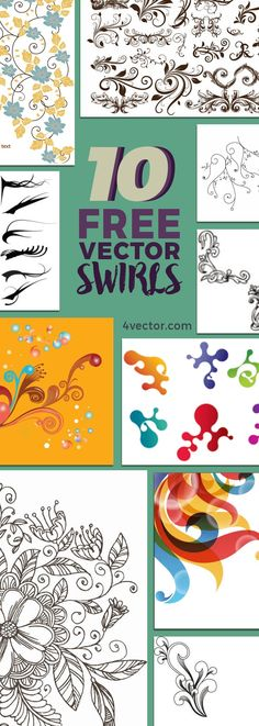 Ever had a hard time searching for vector graphic that would actually fit into your work? We have carefully hand-picked 10 beautifully designed vector swirls that are made available on our website for free. Check them out at 4vector.com