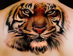 This tiger tattoos is truly brilliant!