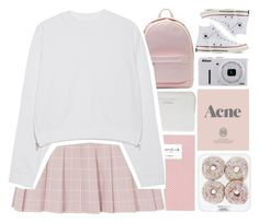 """""""The Suburbs // Arcade Fire"""" by galactictraveler ❤ liked on Polyvore featuring Acne Studios, PB 0110, Nikon, Prada, Converse, women's clothing, women, female, woman and misses"""