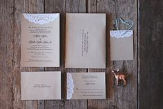 Fresh, Organic, and Modern! Custom Wedding Invitation Suite - Lace and Burlap - Baby & Bridal Shower - Engagement - Rustic Shabby Chic Party