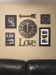 Photo Collage, Wall Collage, Rustic Themed Living Room