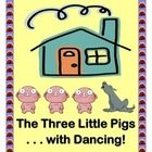 """ADD SOME ACTION!  This favorite FOLK TALE has never been quite this . . . EXCITING!  You'll find more dancing and music than sitting!  Story Time should have 'MOVES'!  The Lesson Plan includes a complete STORY TEXT for this 'pig tale', plus CHARACTER TEMPLATES, RHYME, and SONG instructions.  A great Literacy and Rhythm Activity for your kids!  Learn """"The Happy Pig Dance!""""  (""""Chicka-bow-wow!"""")  (10 pages)  Tell a Story with Joyful Noises Express TpT!  $"""