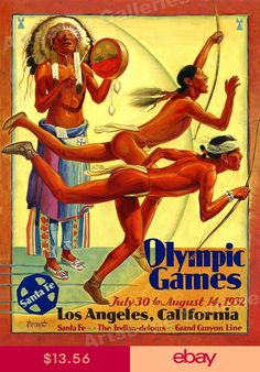 1932 Olympic Games, Los Angeles, Hernando G. Vintage Advertisements, Vintage Ads, Vintage Style, Winter Games, Art Graphique, Summer Olympics, Gay Art, Advertising Poster, Vintage Travel Posters