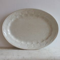 Large Antique Cochran Ironstone Platter with Wheat Design