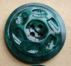 "RP: Vintage  ""Jade Green"" 4 Hole Ridged Casein Buttons | eBay.com"
