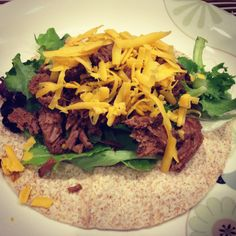 Shredded beef for tacos crock pot recipe 21 day fix