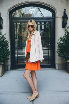 Comfy orange dress a