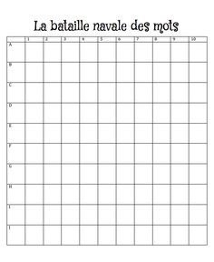 Le cahier de Pénélope: La bataille navale des mots Ap French, Core French, French Teacher, Teaching French, Word Study, Word Work, 1st Grade Math, Grade 2, Bilingual Classroom