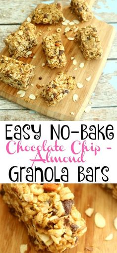 These no-bake granola bars have a sweet, crunchy texture and make a perfect energizing & delicious snack or breakfast bar. http://kitchendreaming.com/no-bake-granola-bars/