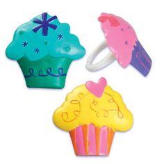 Cupcake Shaped Cupcake Rings