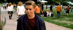 Ponyboy at School... He doesnt look very amused.