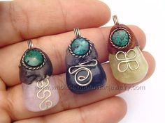 Colorful Agate Pendants, Handmade Peruvian Jewelry  http://www.wholesaleperuvianjewelry.com