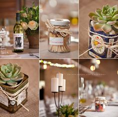 Love the cans with the succulents! so cute!