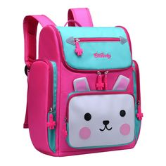 Backpack for Girls, Waterproof Bagpack Pink School Bag Cute Bookbag for Kids (Blue Pink, Large) >>> Find out more about the great product at the image link. (This is an affiliate link)