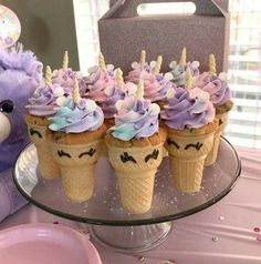 Unicorn Theme Custom Cupcakes