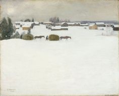 Load of Hay, 1899 by Pekka Halonen on Curiator, the world's biggest collaborative art collection. Romanticism Paintings, Impressionist Paintings, Landscape Paintings, Nordic Art, Scandinavian Art, Winter Painting, Winter Art, Chur, Oil Painting Gallery