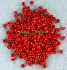 Excited to share the latest addition to my #etsy shop: 8/0 Round TOHO Japanese Glass Seed Beads #45- Opaque Pepper Red 15g http://etsy.me/2DA7TsF #supplies #toho #japanese #round #glass #seed #beads #bead #opaque