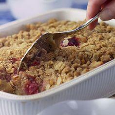 Strawberry-Rhubarb Bread Pudding