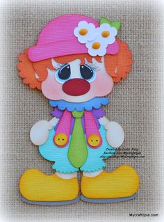 Your place to buy and sell all things handmade Foam Crafts, Diy And Crafts, Crafts For Kids, Paper Crafts, Card Crafts, Clown Party, Paper Piecing, Clown Crafts, Josephine