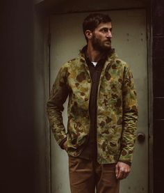 Taylor Stitch - The Ojai Jacket in Arid Camo Dry Wax Taylor Stitch, Military Jacket, Camo, Jackets, Fashion, Cupboard, Camouflage, Down Jackets, Moda