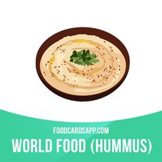 Hummus is a food dip or spread made from cooked, mashed chickpeas or other beans, blended with tahini, olive oil, lemon juice, salt and garlic. #hummus #veganfood #vegan #vegetarian #vegetarianfood #food #english #englishlanguage #englishlearning #learnenglish #studyenglish #language #vocabulary #dictionary #vocab