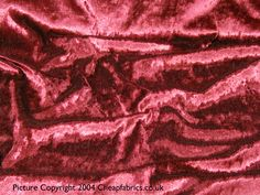 Crushed Velvet from cheapfabrics.co.uk