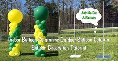 Indoor Balloon Column vs Outdoor Balloon Column - Balloon Decoration Tut...