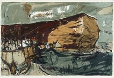 Artwork page for 'Staithes', Elizabeth Blackadder, 1962 Seascape Paintings, Landscape Paintings, Landscapes, Landscape Prints, Blackadder, Abstract Landscape, Abstract Art, Art Images, Art History