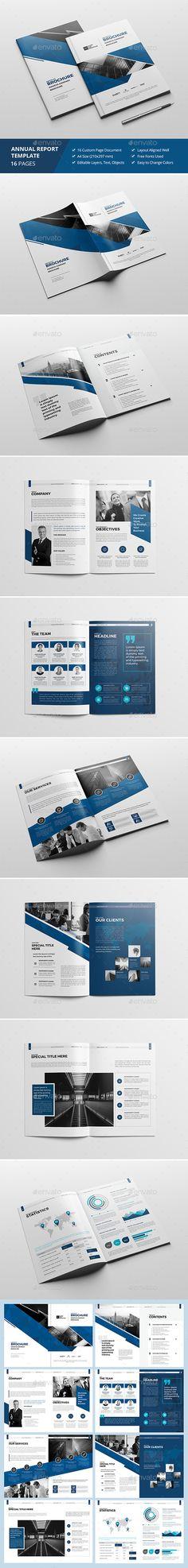 Haweya Annual Report Brochure Template InDesign INDD