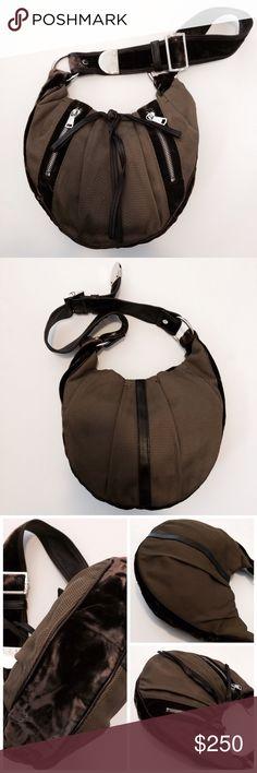yves saint laurent satin-paneled top zip clutch