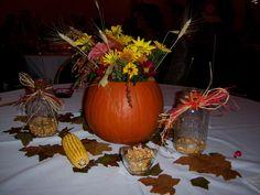 fall/pumpkin/wedding centerpiece