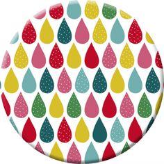 """Laetitia Haas miroir de poche """"Colorful drops"""""""